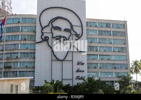 Cuba, Havana. Ministry of Communications at Revolution Square. Credit as: Wendy Kaveney / Jaynes Gallery / DanitaDelimont.com - Stock Image