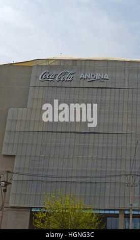 Coca Cola Andina factory avenida Miraflores Renca Santiago Chile - Stock Image