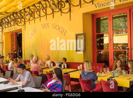 Café Van Gogh place du Forum  at Arles - Stock Image