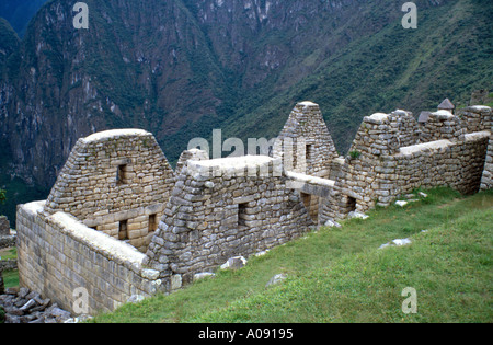 Ruins Machu Picchu, Peru, South America - Stock Image
