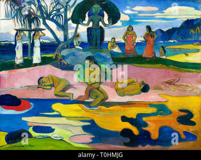 Paul Gauguin, Day of the God, painting, 1894 - Stock Image