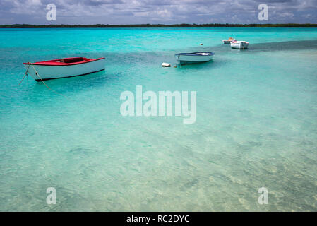 Sheltered waters of Lac Bai, Bonaire, Netherlands Antilles - Stock Image