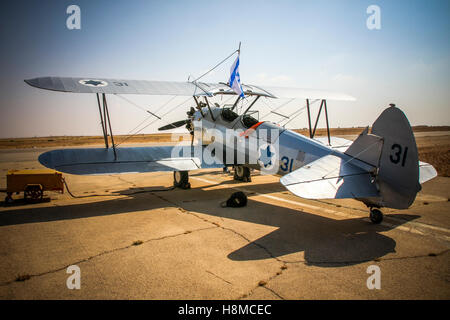 Israeli Air Force Stearman (Boeing) Model 75 PT-17 biplane, of which at least 9,783 were built in the United States - Stock Image