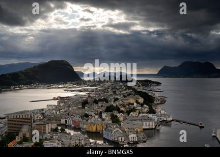 View across Ålesund - Stock Image