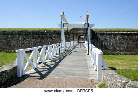 Entrance to Fort St. George Inverness on the Moray Firth Scotland - Stock Image