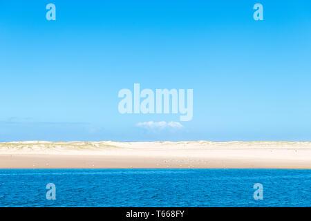View over beautiful white sandy beach in Australia - Stock Image