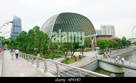 Esplanade at Marina Bay Sands - Stock Image