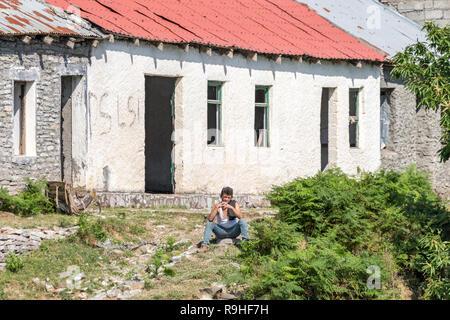 Views from Lake Koman Ferry, Albania - Stock Image