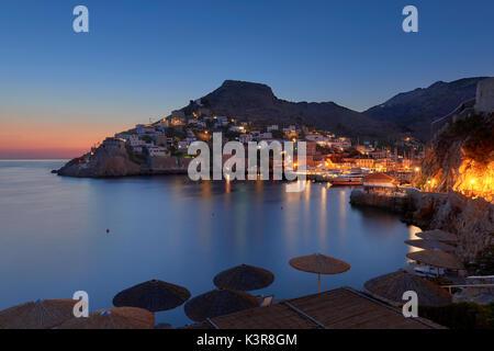 Sunrise at Hydra island - Stock Image