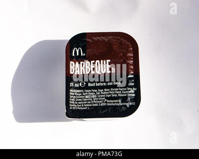 A McDonalds Barbeque sauce dip - Stock Image
