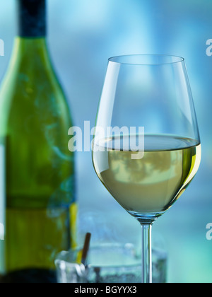 Wine and cigarettes - Stock Image