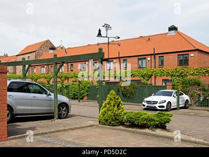 New housing in Yarm, North Yorkshire, England UK - Stock Image