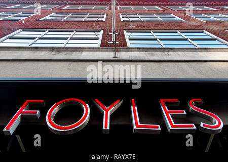 Foyle's flagship store in London - Stock Image