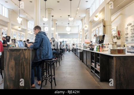 St Roch Market, Marigny Neighbourhood, New Orleans, Louisiana, United States of America, USA - Stock Image