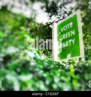 General Election - Green Party sign - Stock Image