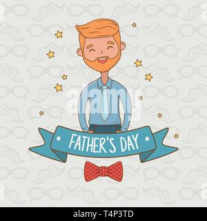 cute father character card vector illustration design - Stock Image