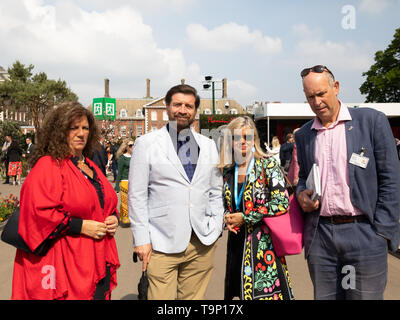 London, UK. 20th May, 2019. TV presenter Nick Knowles attends RHS Chelsea Flower Show Press Day which takes place before it officially opens tomorrow until Saturday 25th May. The world renowned flower show is a glamourous, fun and an educational day out which is attended by many celebrities. There are many gardens, floral displays, Marquees all set in the glorious grounds of The Royal Hospital Chelsea. Credit: Keith Larby/Alamy Live News - Stock Image