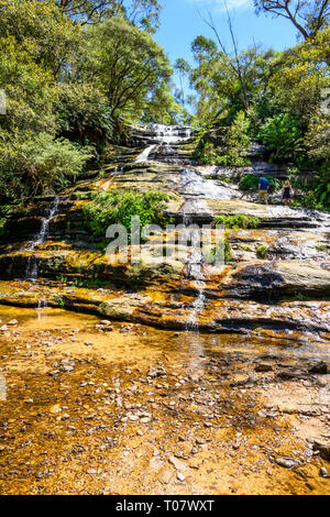 The Katoomba Cascade is on the Kedumba River, in Blue Mountains National Park, New South Wales, Australia. - Stock Image