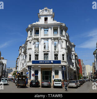 BMCE bank building in Casablanca, Morocco. - Stock Image