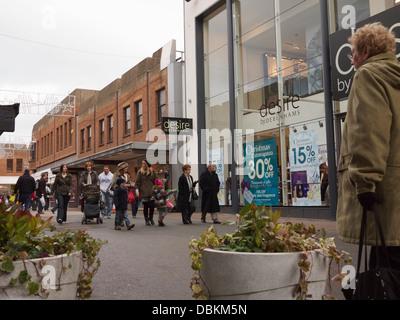 Altrincham: Market town since 1290- George Street Pedestrian precinct - Stock Image
