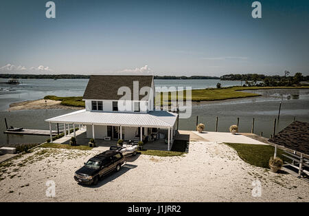 Vacation cottage on Eastern Shore of Virginia - Stock Image