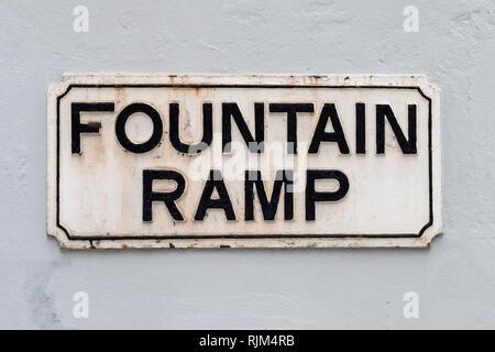 Fountain Ramp - Stock Image