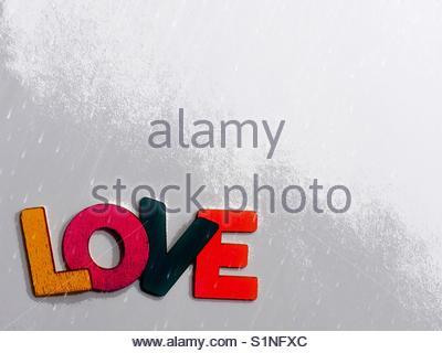 love (word) - Stock Image