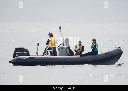 Stokes Bay, Hampshire, UK. 6th Sep, 2014. P1 Superstock final round. Stokes Bay, Gosport, Hampshire. P1 Rescue rib - Stock Image