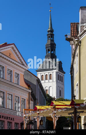 St. Nicholas Church Niguliste Kirik in the old town area of the city of Tallinn in Estonia. - Stock Image