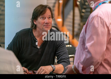 Bonn, Germany - June 8 2019: Kevin Sorbo (*1958, American actor, director and producer - Andromeda, Xena, Herkules) is happy to meet fans at FedCon 28 - Stock Image