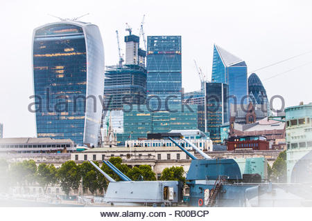 Financial district in London - Stock Image