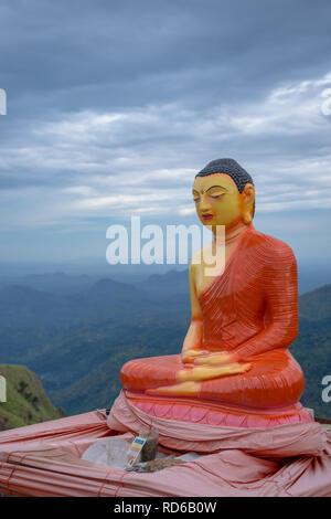 Buddha at Little Adam's Peak, Sri Lanka - Stock Image