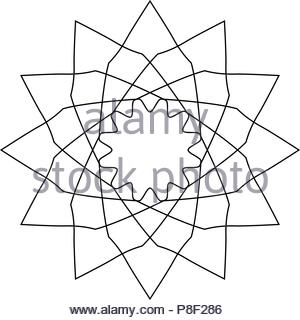 Geometric logo or symbol for decoration, vector illustration - Stock Image