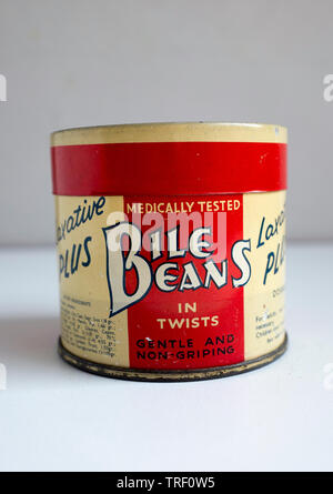 A Tin of Chemists Bile Beans - Stock Image