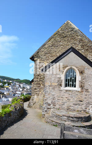 The tiny Chapel of St Nicholas, Ilfracombe, Devon, UK - Stock Image