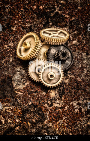 The plastic gear. Photo fragment of machine. - Stock Image