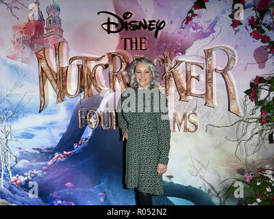 Sarah Cawood attend The Nutcracker and the Four Realms - UK premiere at Vue Westfield, Westfield Shopping Centre, Ariel Way on 1st Nov 2018, London, UK. - Stock Image