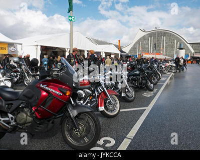 Hamburg Harley Days Biker-City-Event big motorbike motorbiker Germany - Stock Image