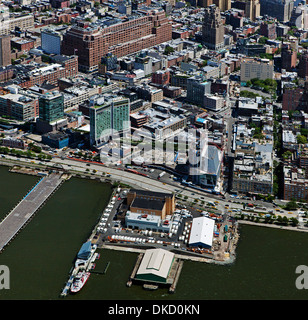 aerial photograph Meatpacking District, Manhattan, New York City - Stock Image