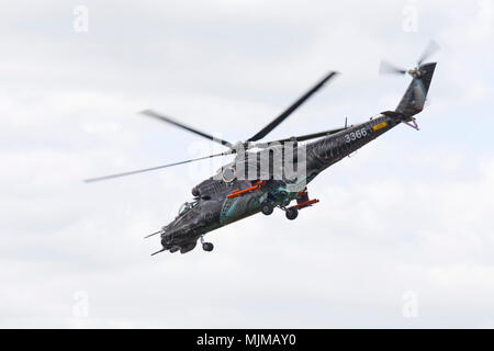 Czech Air Force helicopter at Biggin Hill Airshow - Stock Image