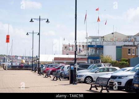 Cowes esplanade, Isle of Wight - Stock Image