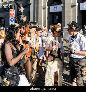 Party people, street parade, Zurich , Switzerland - Stock Image