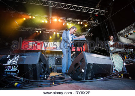 BAXTER DURY performing live at Musilac festival, 11 july 2015 - Stock Image