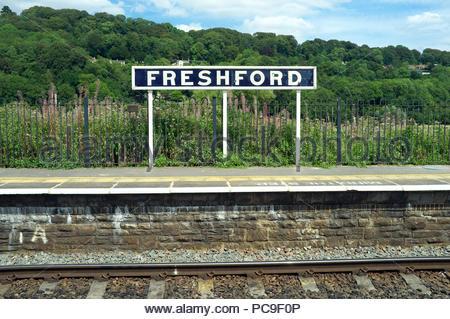 Freshford railway station, near Bath, in Somerset, UK. - Stock Image