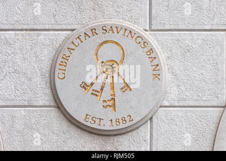 Gibraltar savings bank - Stock Image