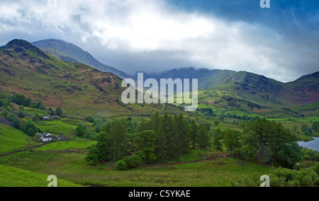 Wetherlam,s Passing Clouds - Stock Image