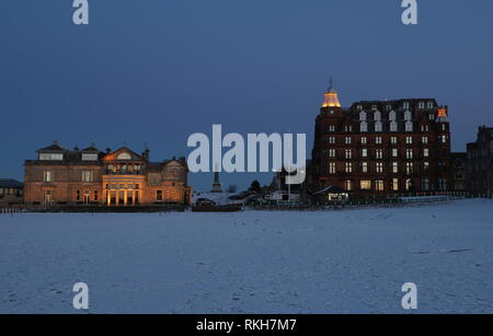 Royal and Ancient Clubhouse and Hamilton Grand luxury apartments St Andrews Fife Scotland   February 2019 - Stock Image