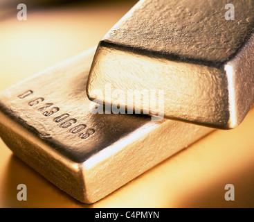 GOLD BARS_2 - Stock Image