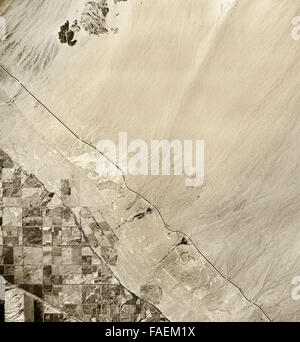 historical infrared aerial photograph of Salton Sea, California,1954 - Stock Image