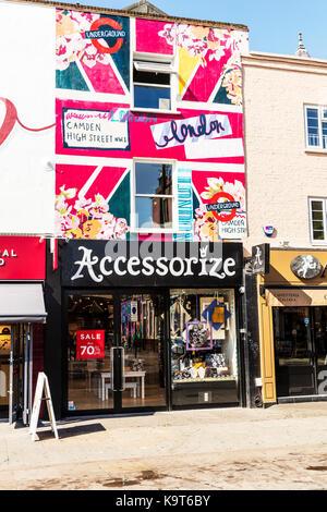 Accessorize store, Accessorize shop front, Accessorize shop sign Camden London, Accessorize store front Camden London, - Stock Image